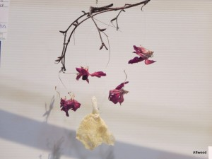 Floral wind chimes.