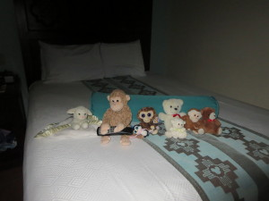 This was my favourite.  They were all sitting on the bed with the TV turned on to the bedtime story channel.