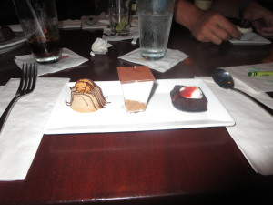 Also not GF but isn't this a great dessert sampler that came with Glenn and Katrine's meals?