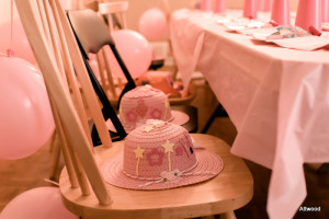 This was their craft 'cause you can't have a tea party without a hat.