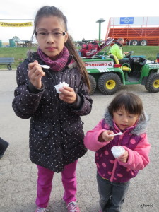 They loved the free samples.  Who knew coconut cream tasted so yummy.