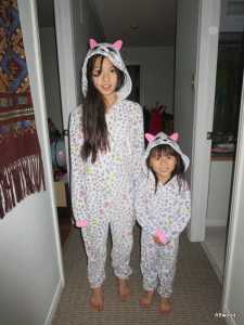 They now have matching pjs.