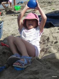 Yup, she dug herself a hole.