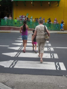 Cool theme crosswalk set the tone.