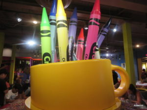 Giant crayon caddy.