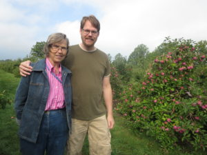 Apple picking with mom.