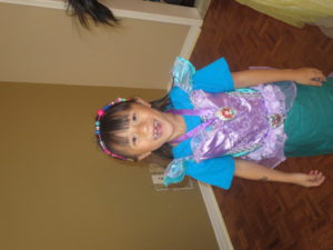 All ready for her princess party!