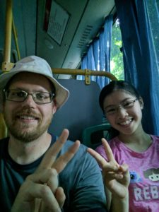 Nanning bus ride selfie
